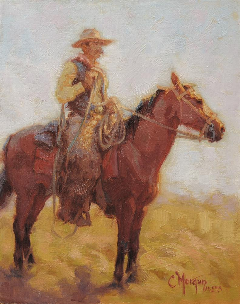 """Wrangler Memories #10"" original fine art by Cecile W. Morgan"