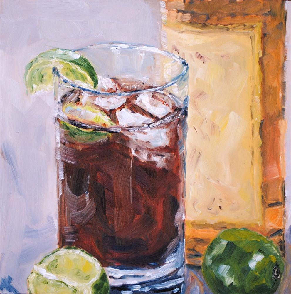 """Captain and Coke"" original fine art by Alison Kolkebeck"
