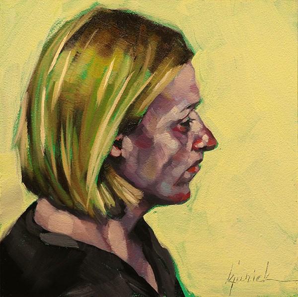 """200 Faces, No. 138"" original fine art by Karin Jurick"