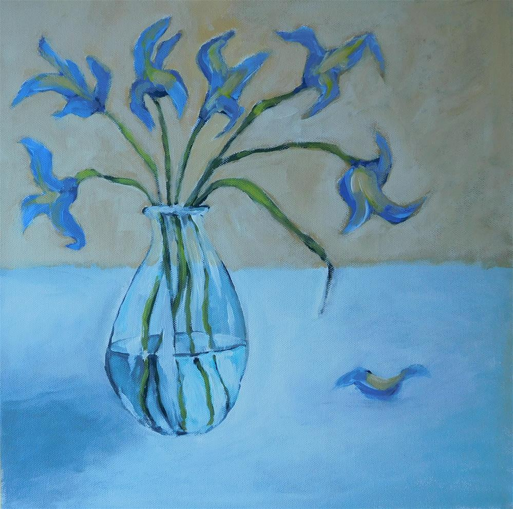 """Irises"" original fine art by Daryl West"