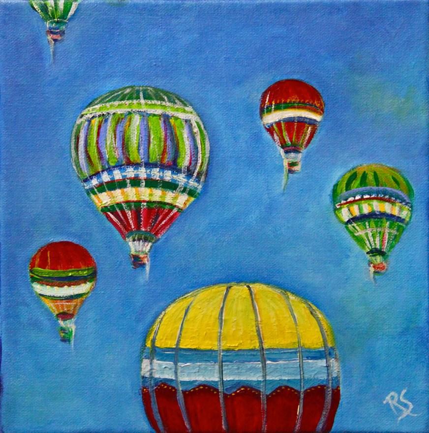 """""""Six In The Sky"""" original fine art by Roberta Schmidt"""
