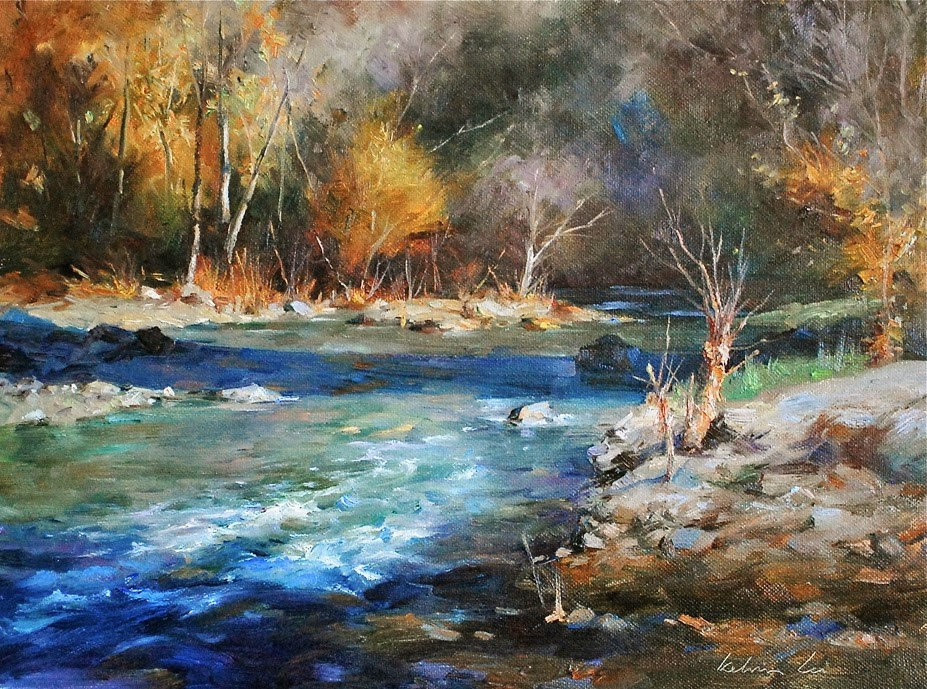 """River Series #3"" original fine art by Kelvin Lei"