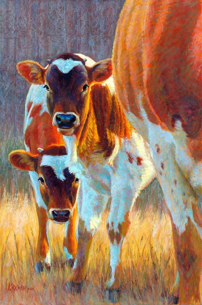"""Timid Twins"" original fine art by Rita Kirkman"