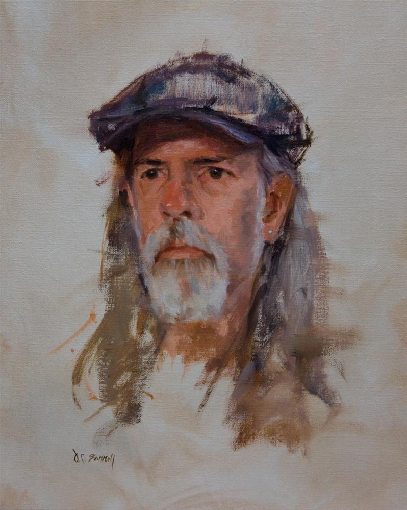 """The Blue Cap"" original fine art by Donna C Farrell"