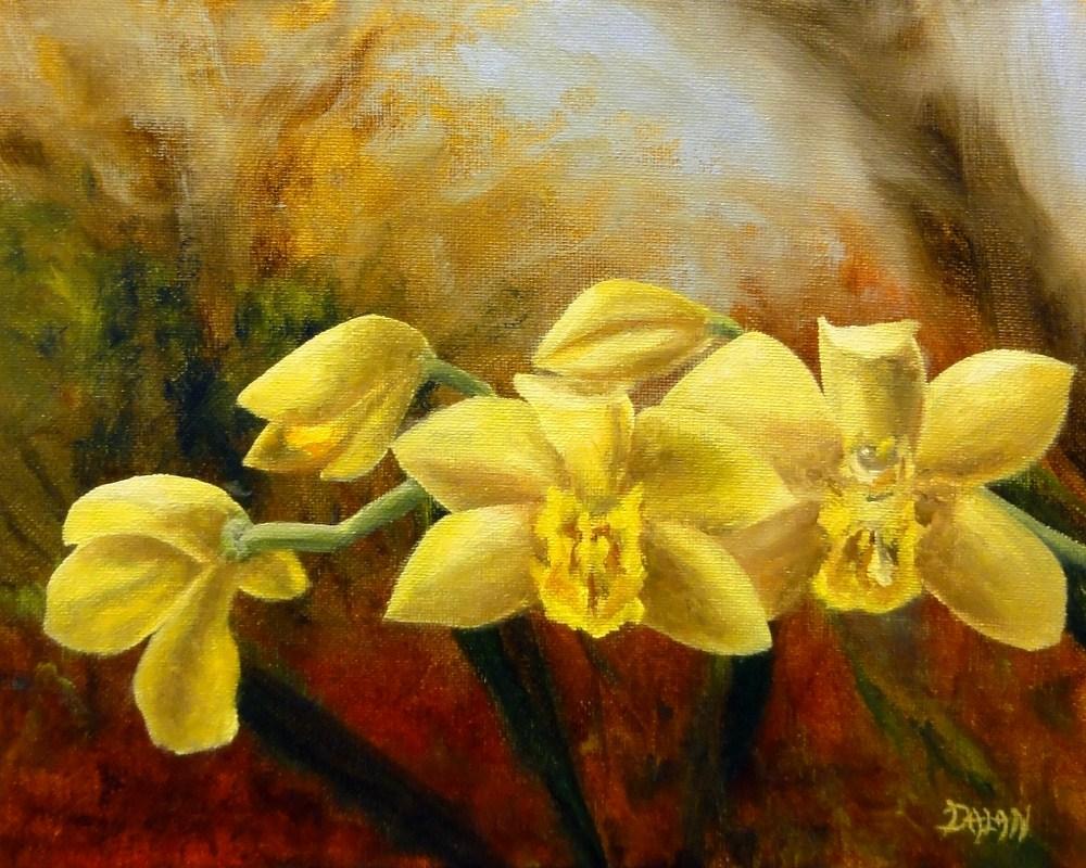 """Yellow Orchids"" original fine art by Dalan Wells"