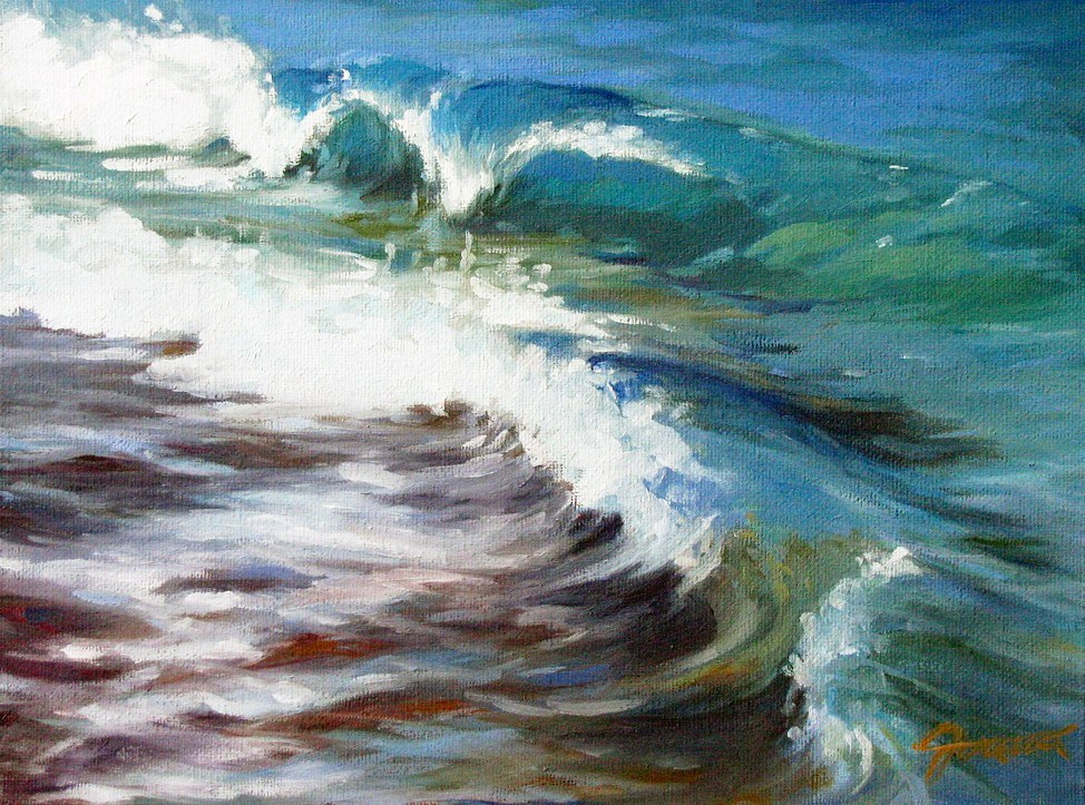 """Turquoise Waves"" original fine art by Joanna Bingham"