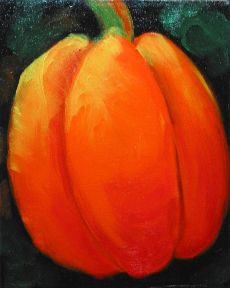 """Pumpkin Patch"" original fine art by Patricia Murray"