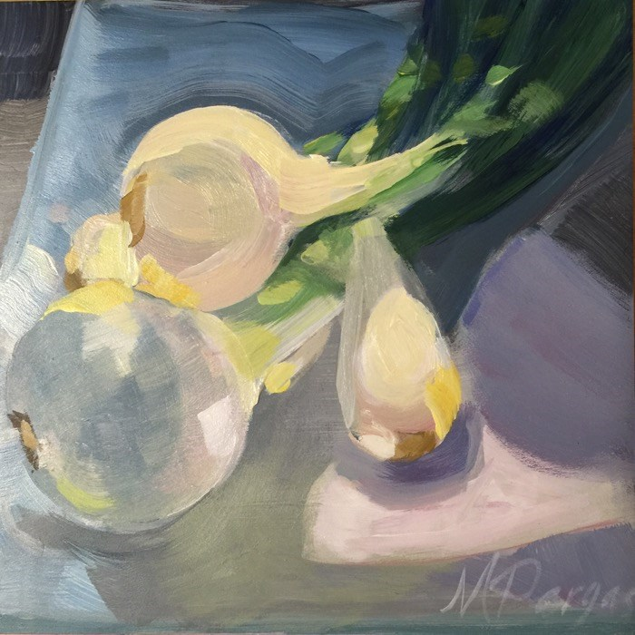 """Onion Bulbs"" original fine art by Mary Pargas"