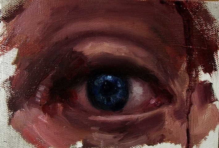 """Just an eye"" original fine art by Aleksandra Uzarek"