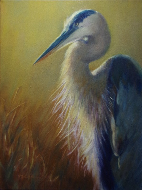 """The Fisher"" original fine art by Marilyn R. Place"