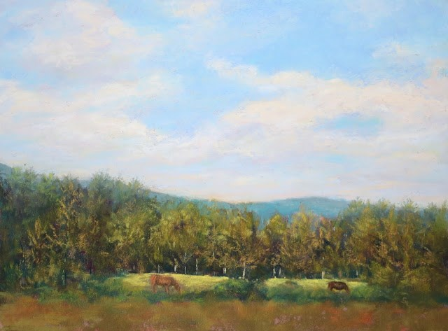 """High Meadow"" original fine art by Sharon Lewis"