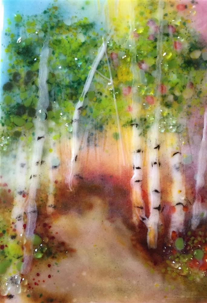 """Mystic Forest"" original fine art by Kristen Dukat"