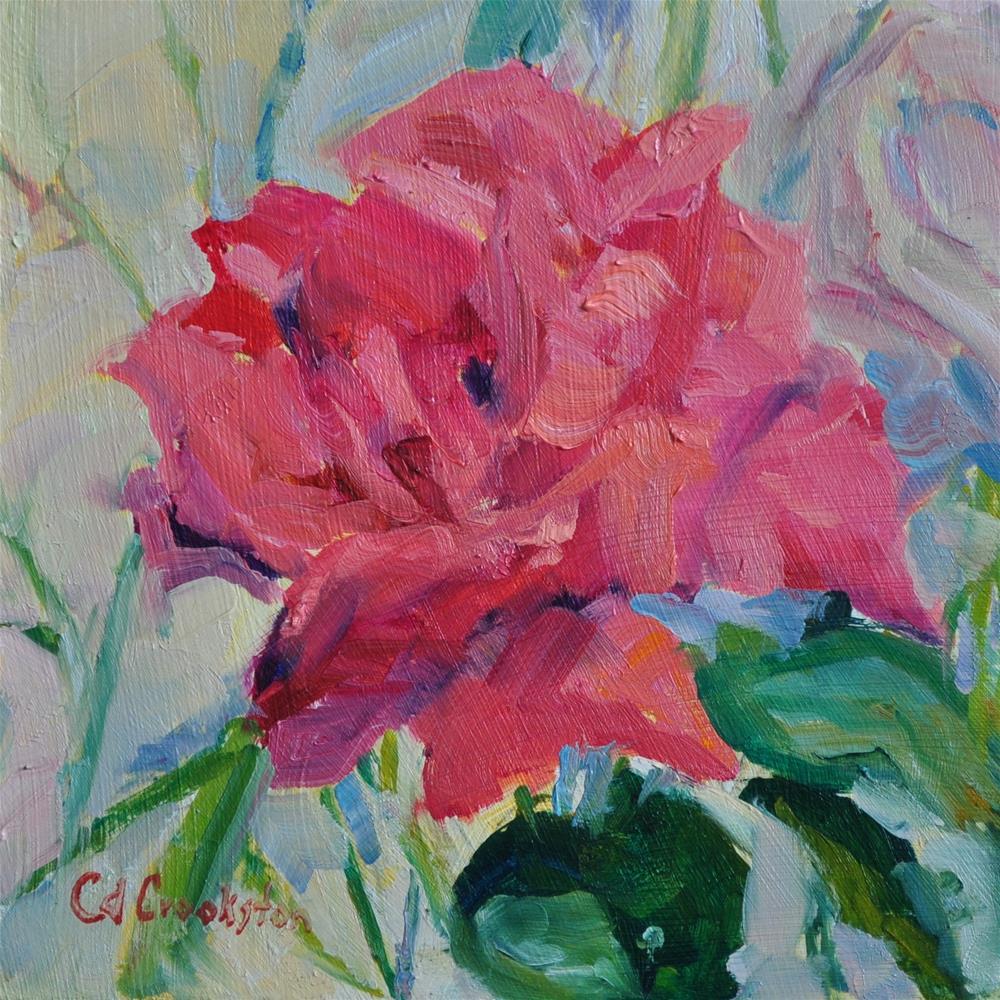 """Electron Rose"" original fine art by Catherine Crookston"