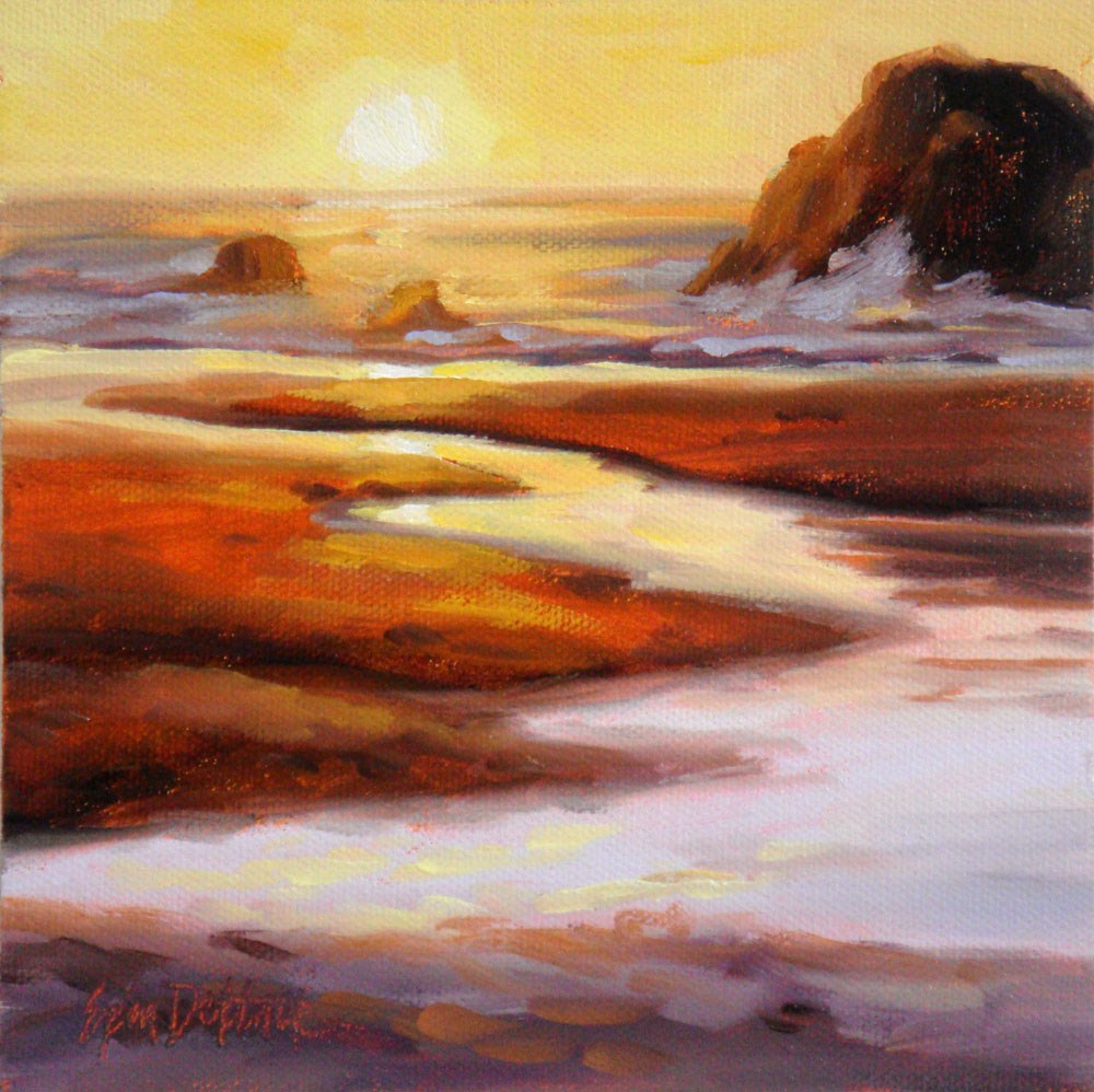 """Seaside Sunset"" original fine art by Erin Dertner"