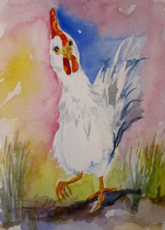 """Rooster No. 26"" original fine art by Delilah Smith"