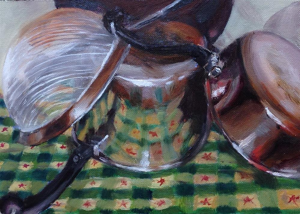 """Drying on the Counter"" original fine art by Linda Lowery"