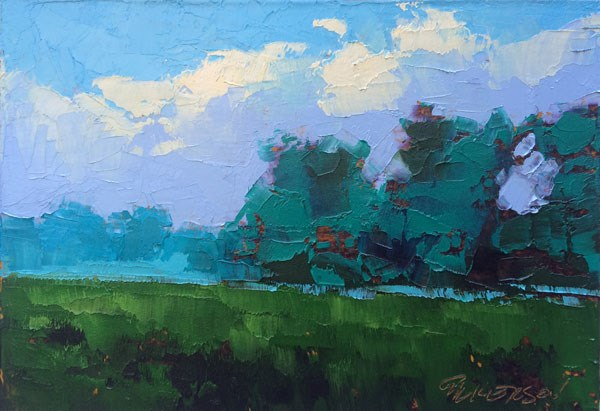 """Field and Smoke"" original fine art by Mary Gilkerson"
