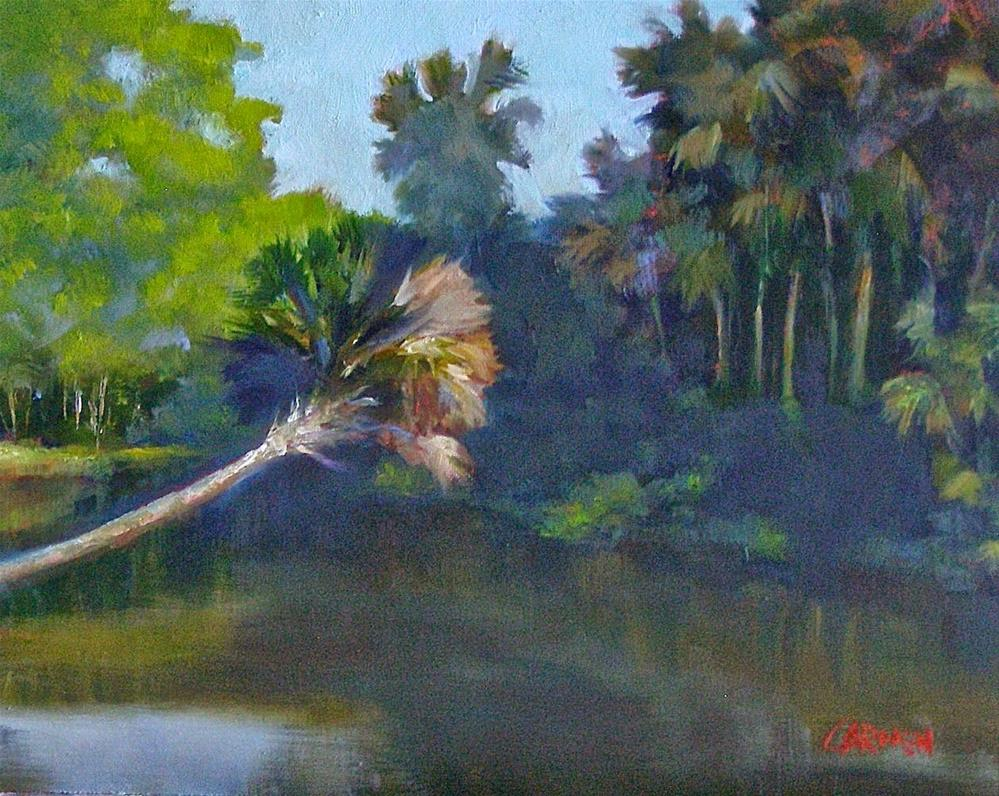 """Turkey Creek Palm, 10x8 Original Oil on Canvas Panel"" original fine art by Carmen Beecher"