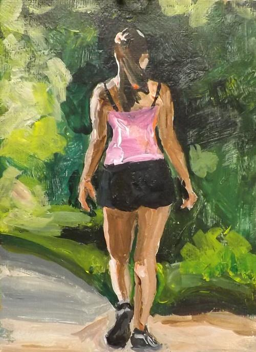 """Walking,U17"" original fine art by Run-      Zhang Zane"