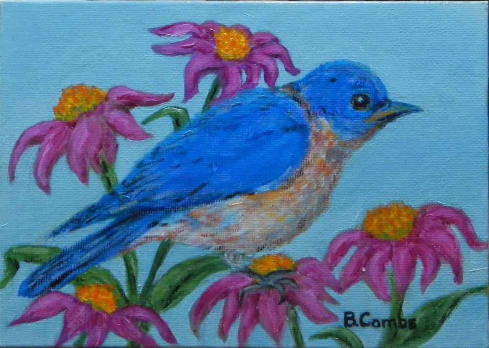 """Eastern Bluebird"" original fine art by Bebe Combs"