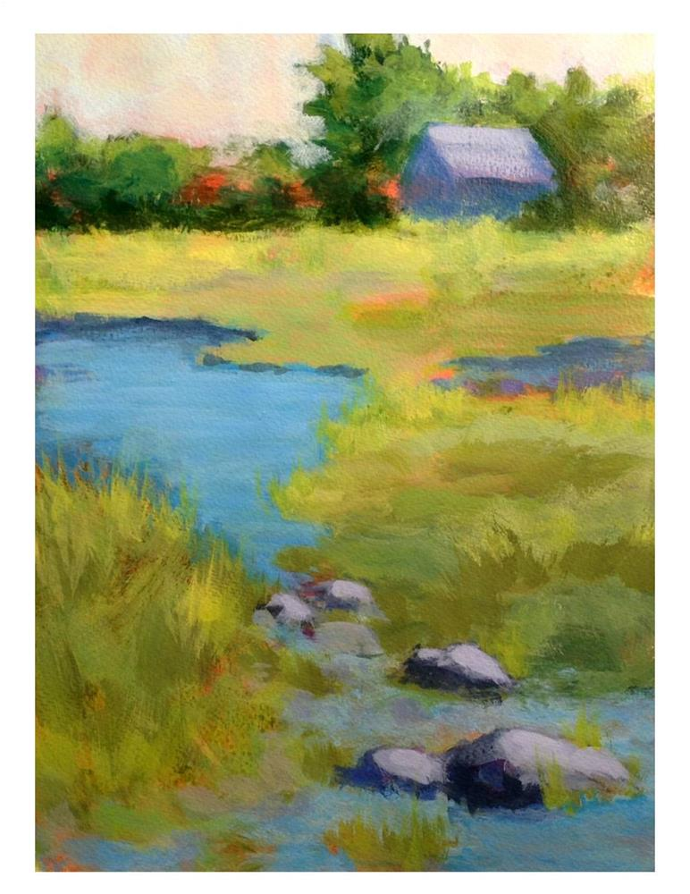 """Marshland in Spring"" original fine art by Suzanne Woodward"