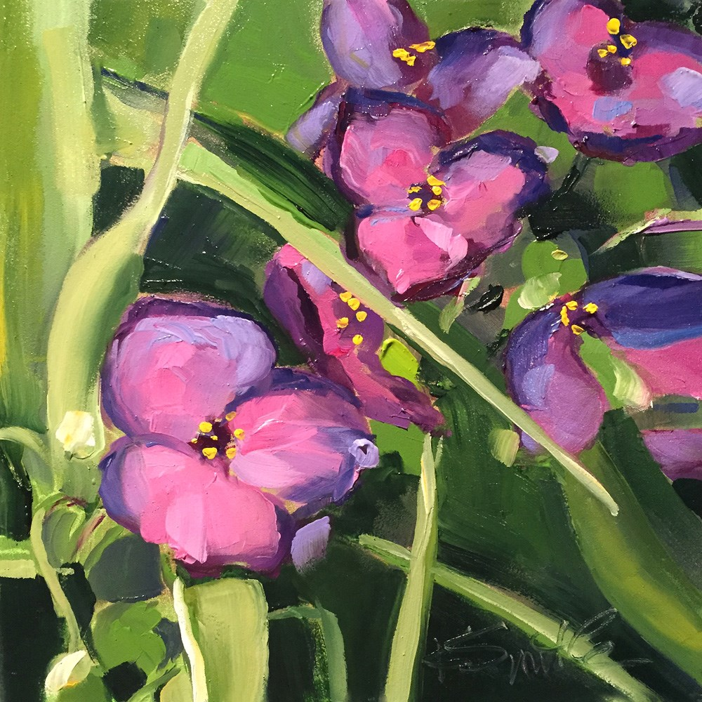 """spiderwort"" original fine art by Kim Smith"