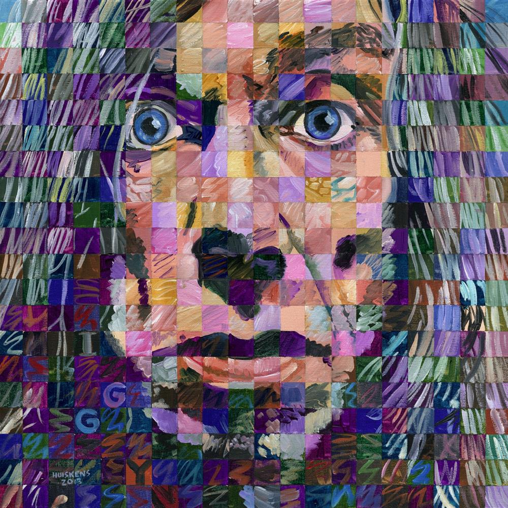 """Iggy Pop"" original fine art by Randal Huiskens"