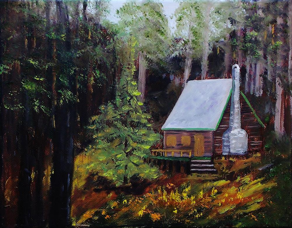 """""""In The Deep Woods"""" original fine art by Mike Caitham"""