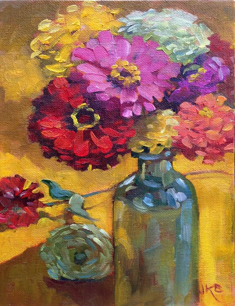 """Mid-Century Colors II"" original fine art by Jeanne Bruneau"