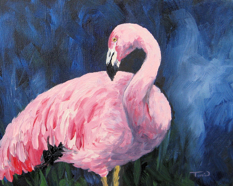 """Pink Flamingo III"" original fine art by Torrie Smiley"