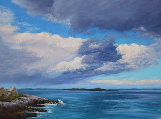 """Storm Clouds Gathering"" original fine art by Sharon Lewis"