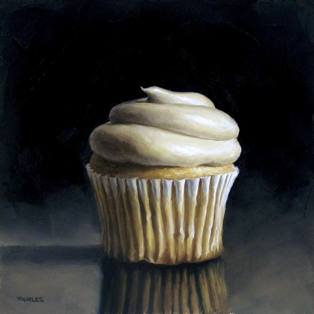 """Vanilla Cupcake"" original fine art by Michael Naples"