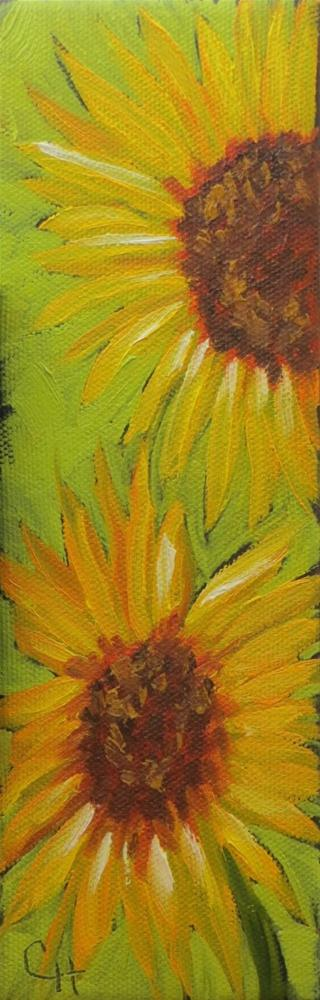 """Sunflowers no. 2"" original fine art by Claire Henning"