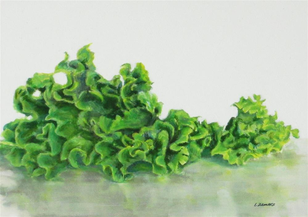 """Green Leaf Lettuce"" original fine art by Linda Demers"