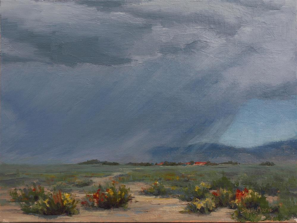 """""""Riders in the Storm"""" original fine art by Sheila Marie"""