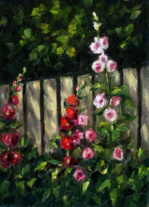 """The picket fence challenge"" original fine art by Irina Beskina"