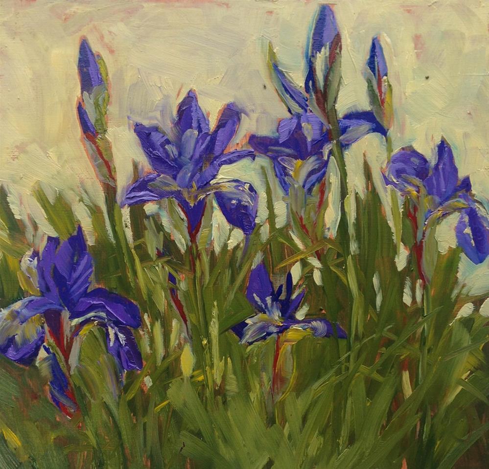 """Siberian Irises"" original fine art by Eileen Hennemann"