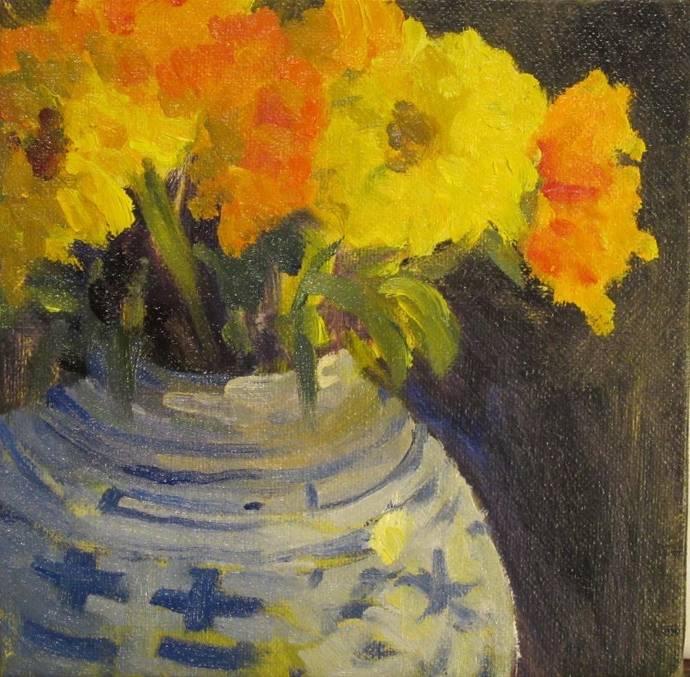 """marigolds"" original fine art by Leigh Alexandra Sparks"