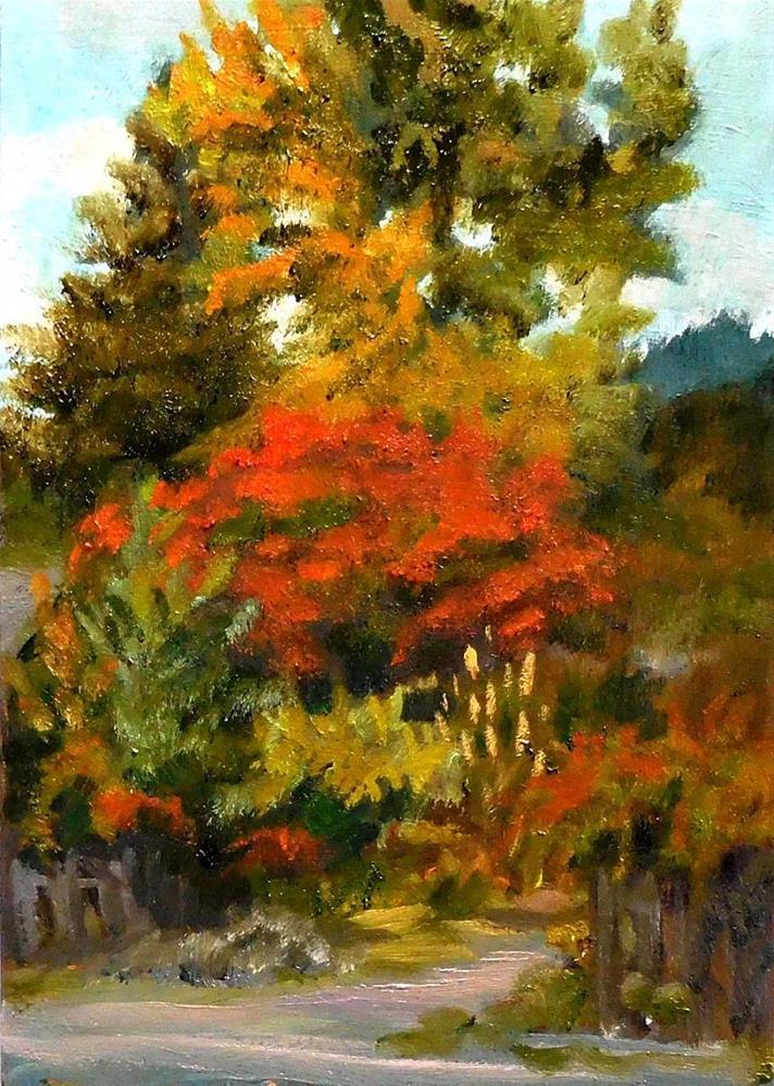 """Across The Street"" original fine art by Cietha Wilson"