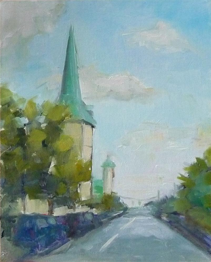 """St. George's"" original fine art by Carol Josefiak"