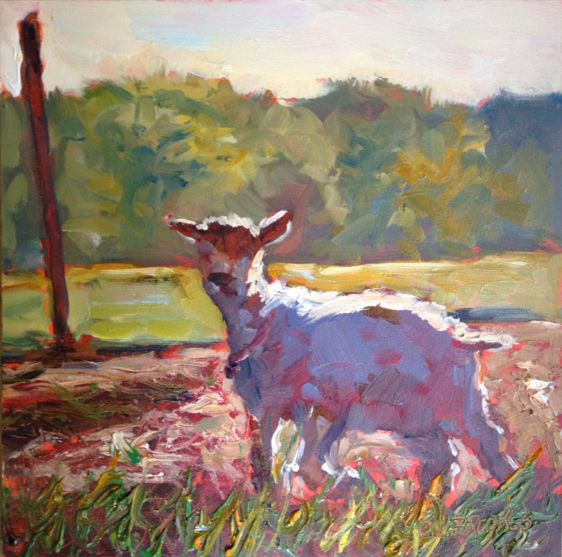 """Curious Goat, Day 10"" original fine art by Claudia L Brookes"