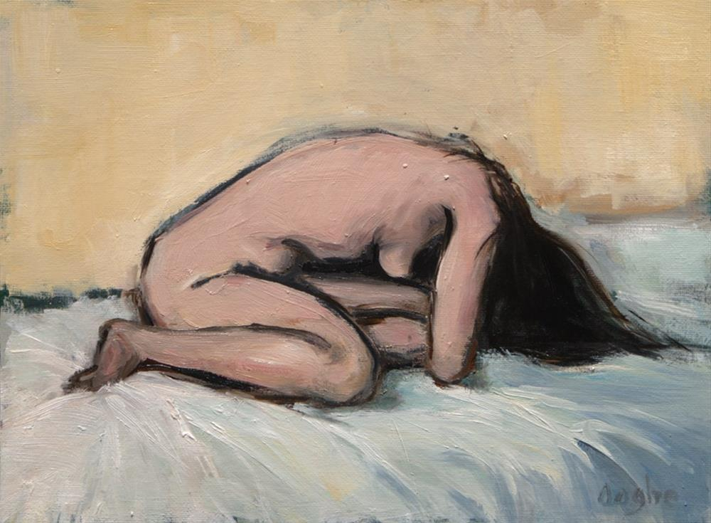 """Woman on Bed"" original fine art by Angela Ooghe"