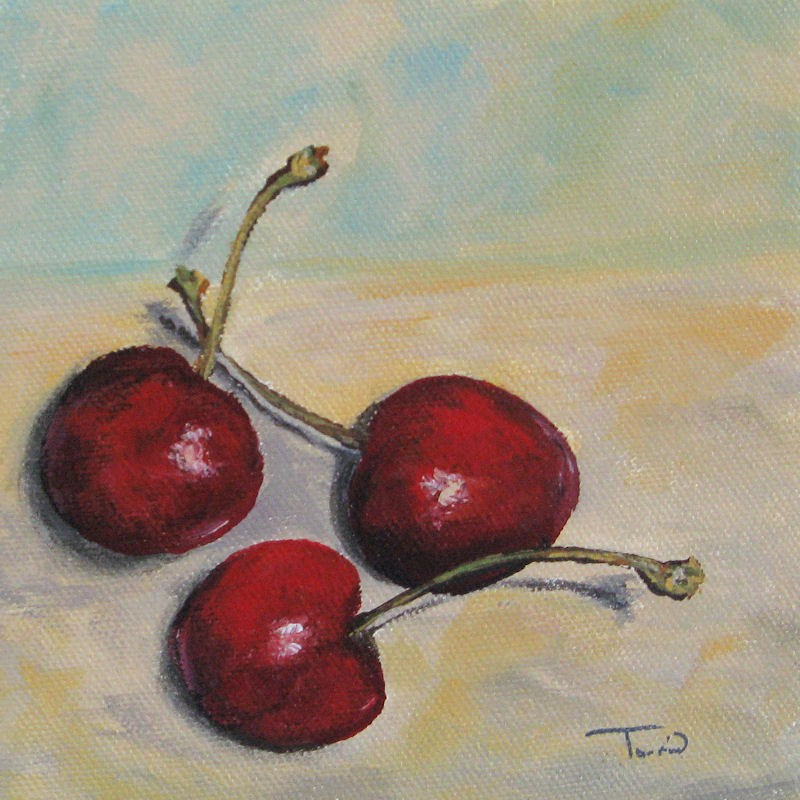 """Bing Cherries"" original fine art by Torrie Smiley"