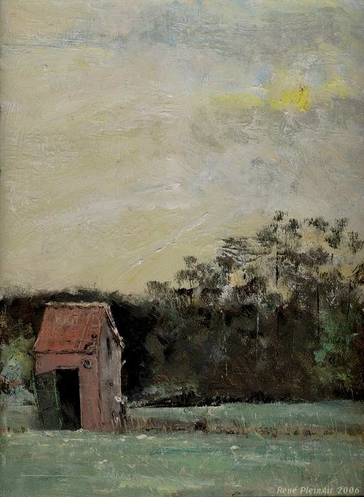 """Farewel little shed. Westervoort, The Netherlands"" original fine art by René PleinAir"