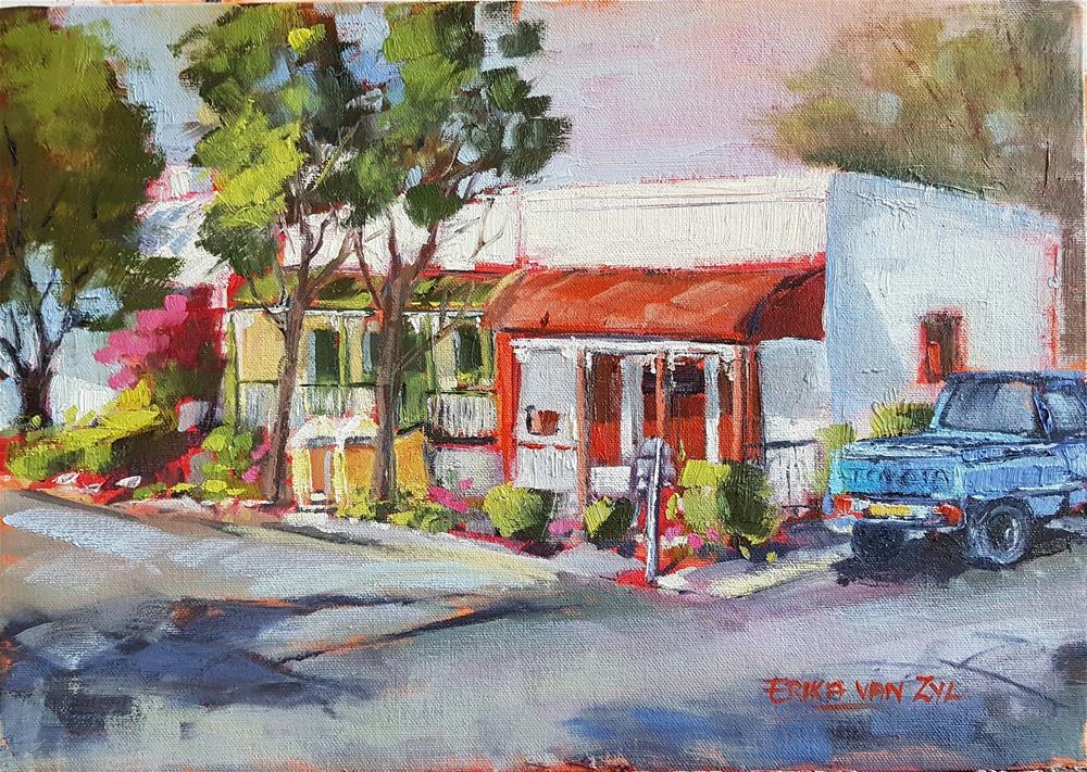 """Mark street Postoffice"" original fine art by Erika Van Zyl"