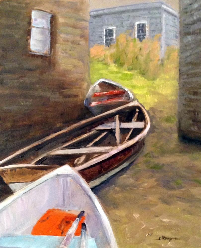 """""""Fish Beach Alley"""" original fine art by Shelley Koopmann"""