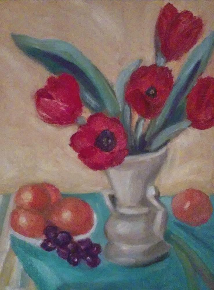 """My Poppies"" original fine art by Gerri Obrecht"