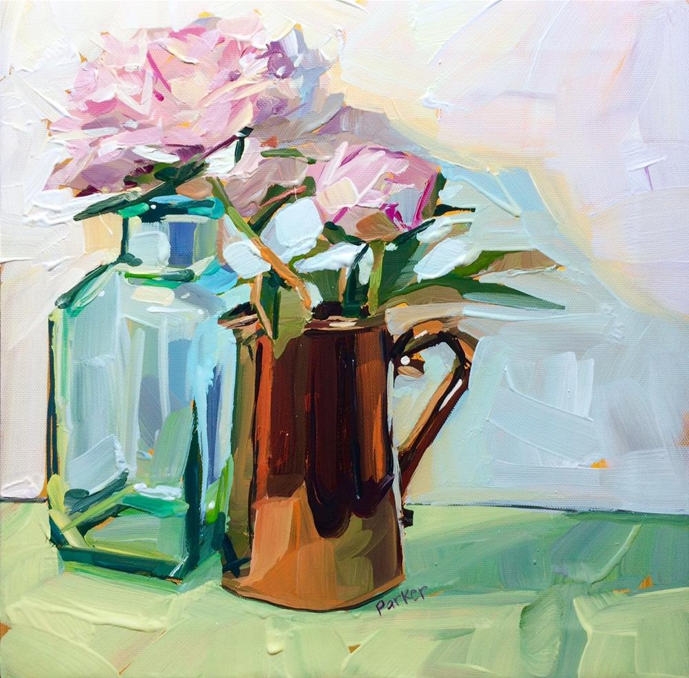"""My Own Peonies"" original fine art by Teddi Parker"