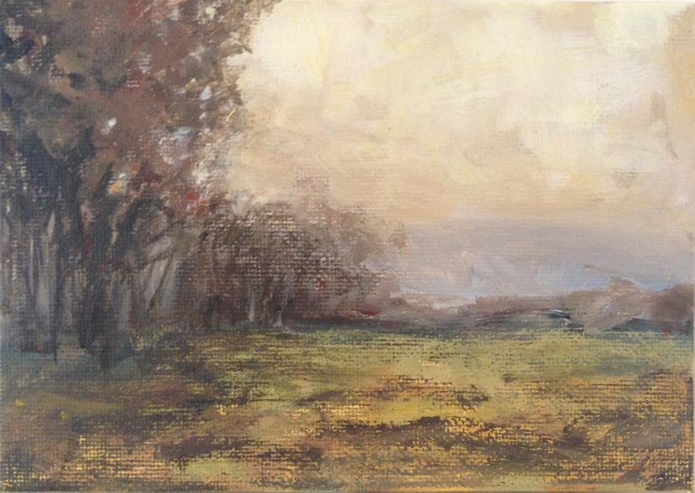 """Autumn Marsh"" original fine art by Shannon Bauer"