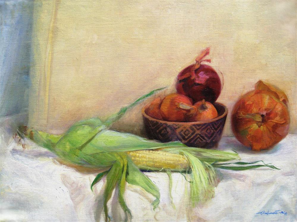 """Maize and Onions"" original fine art by Ann Buenaventura"